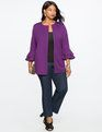 Ruffle Sleeve Blazer Imperial Purple