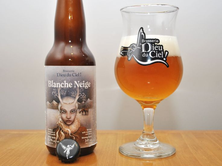 Blanche des Neiges by Dieu du Ciel: White beer on lees with cloves and cinnamon flavoring.