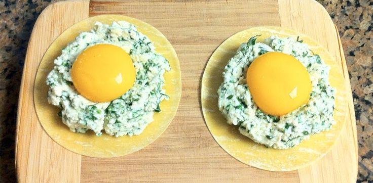 Vera's Cookbook: Raviolo al Uovo (Ravioli with Egg Yolk)