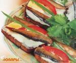 Бутерброды со шпротами/appettizers with shprots