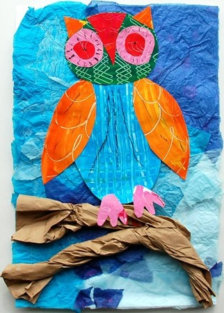 collage owls