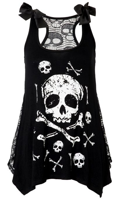 Jawbreaker Skull Crossbones Lace Back Vest | Gothic Clothing | Emo clothing | Alternative clothing | Punk clothing - Chaotic Clothing Short Film Corner PR, Digital Marketing Cannes, Film Festival Marketing