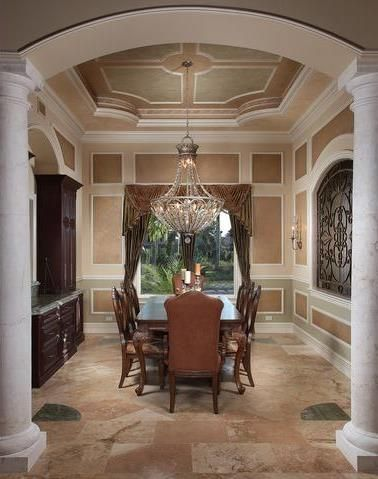 Nicely Painted Tray Ceiling Dining Room