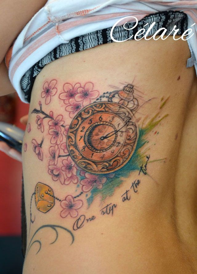 1000 id es sur le th me tatouages horloge sur pinterest tatouages de montre pocket watch - Tatouage horloge signification ...