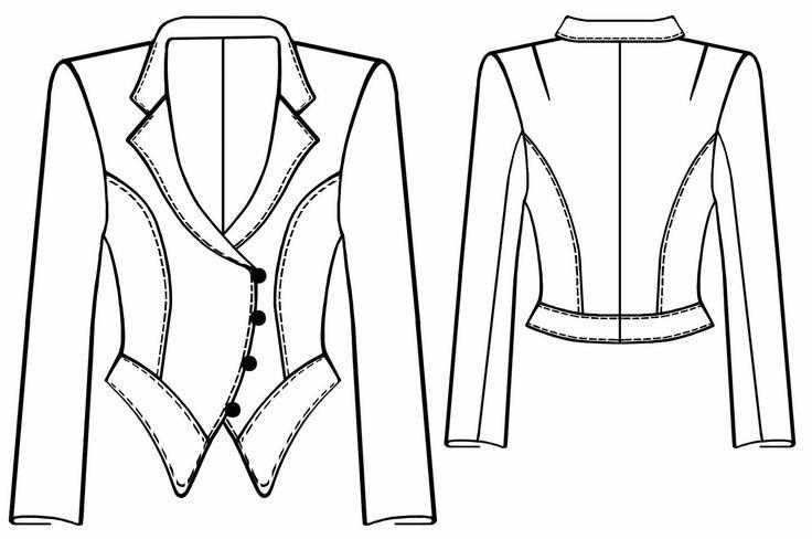 Veste  - Patrons de couture #5567 Les patrons de couture Lekala faits sur mesure…