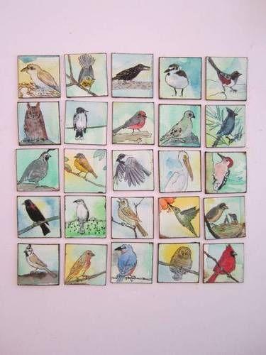 Hand Drawn Bird Inchies
