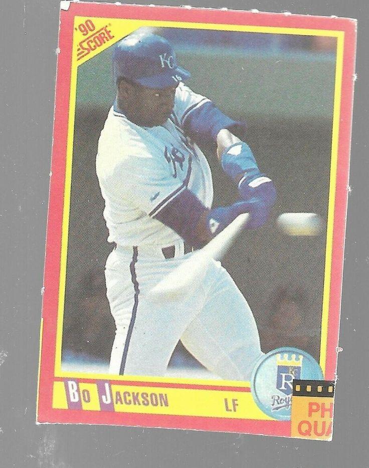 1990 score bo jackson kansas city royals blank back no
