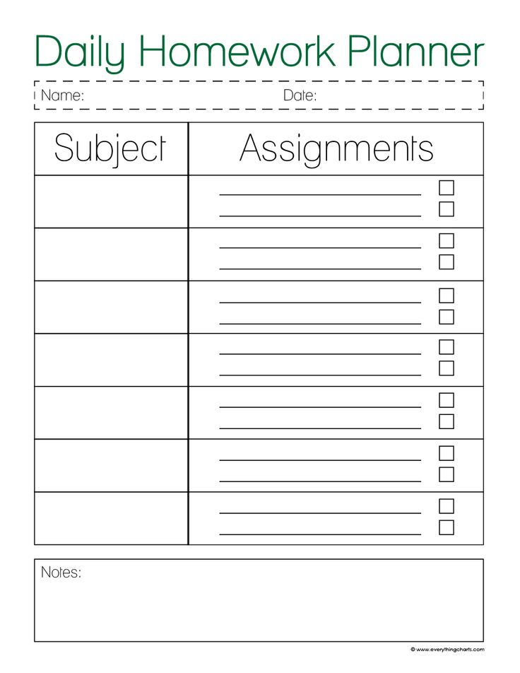 Best 25+ Homework Planner Printable Ideas On Pinterest | Weekly