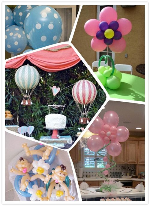 Balloon baby shower centerpiece ideas