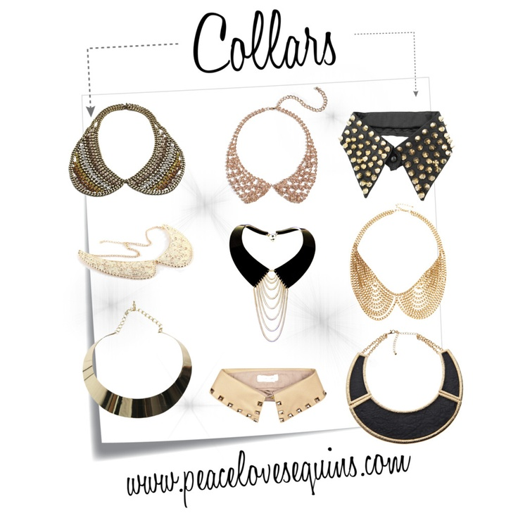 The trend I have been dying to try is collar necklaces! #studs #jewels
