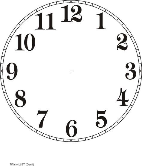 Printable Clock Templates Here are a few examples Cards Clock