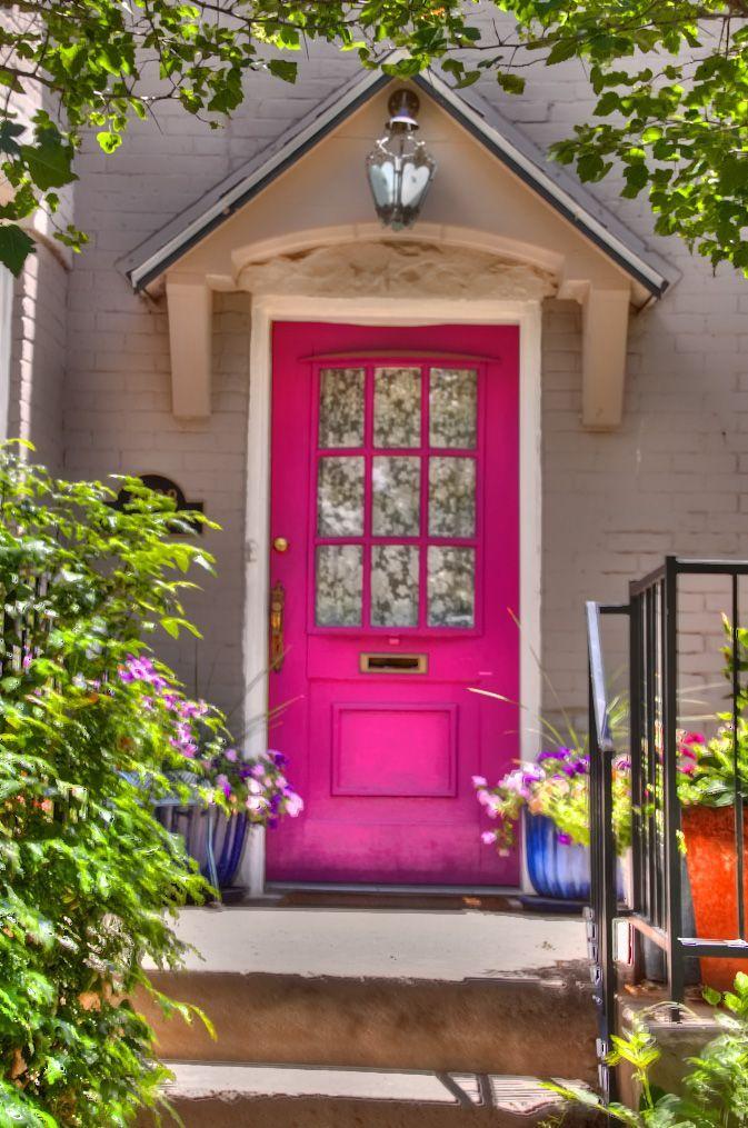 Pin By Girlwiththemostcake 1 On Home Design Pink Door Painted Front Doors Front Door Paint Colors