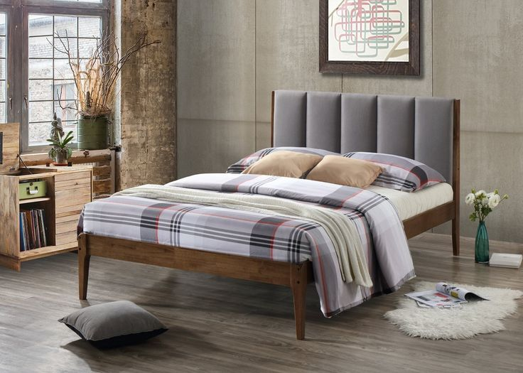 Featuring clean lines and flawless craftsmanship, the Baxton Studio Rachele is a masterpiece of Scandinavian-inspired furniture. Bed frame, constructed of solid rubberwood in earthy tone walnut finishing matching with panel-tufting cushioned headboard —this light and bright, Danish-influenced look speaks for itself. Upholstered in dark grey polyester fabric with exceptional softness and durability, the Baxton Studio Rachele exude luxurious style in your bedroom sanctuary. Tapered and shaped…