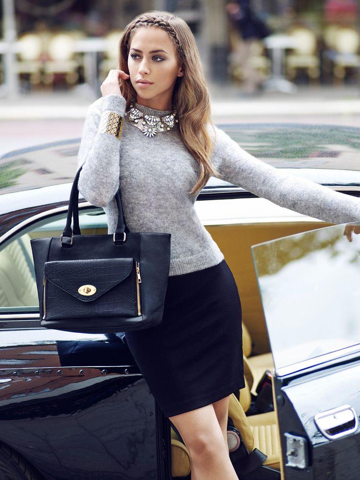 Kenza Zouiten Street Style September 2014 Statement Jewellery from Glitter
