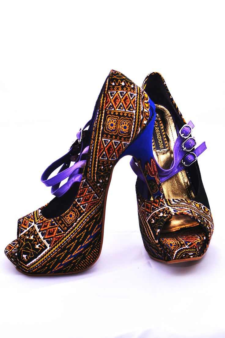 A personal favorite from my Etsy shop https://www.etsy.com/listing/221618261/brown-ankara-covered-shoe