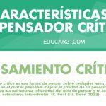 5 Características del Pensador Crítico | Infografía