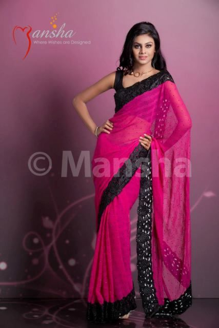 2014 DESIGNER SAREE COLLECTION | ... related to Mansha Latest Party Saree Wear Winter Collection 2013-2014