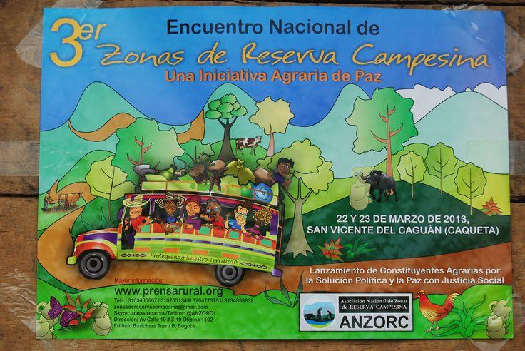 Constituyente. ANZORC. Reserva Campesina. Paz Justicia Social.