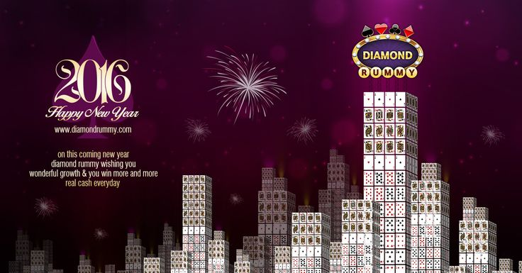 On this new year 2016 wishing you wonderful growth and you win much more on DiamondRummy.com. This NewYear2016 may you rediscover yourself and emerge as a more confident and contented soul. HappyNewYear2016 Team DiamondRummy