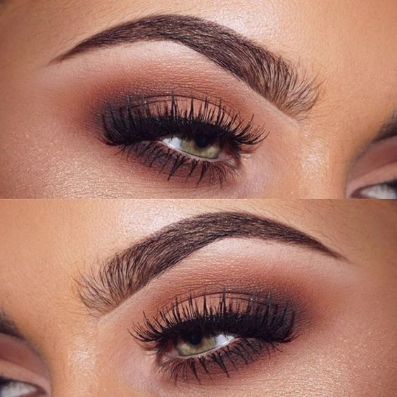 Sultry eye makeup. those long lashes are stunning!
