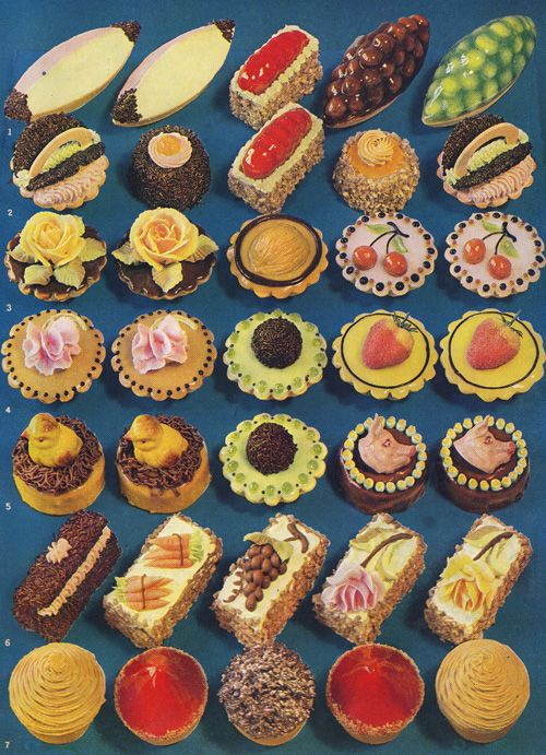 Lambeth Method of Cake Decoration and Practical Pastries, 1936 - love the fabulously garish colours!