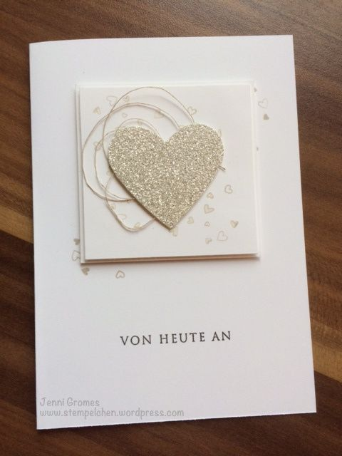 Karte zur Hochzeit Stampin up