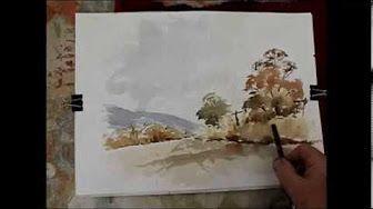 Aquarell-Landschaftsdemonstration – YouTube