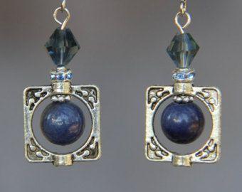 Sodalite blue drop aretes de Dama de honor regalos nos envío gratis a mano Anni diseños