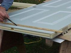 Cut down a standard door to fit mobile home