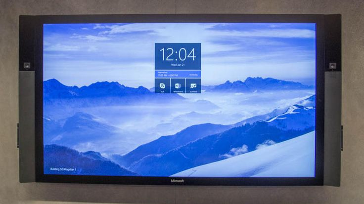 Today (6-10-2015) Microsoft  will reveal the pricing and availability of its massive, wall-mounted Surface Hub, a giant wall-mounted touchscreen that will come in 55- and 84-inch versions. The Hub, which will be powered by the new Windows 10 operating system that will launch this summer, features a screen meant to act as a digital whiteboard and video-conferencing tool that Microsoft looks to sell to business customers.