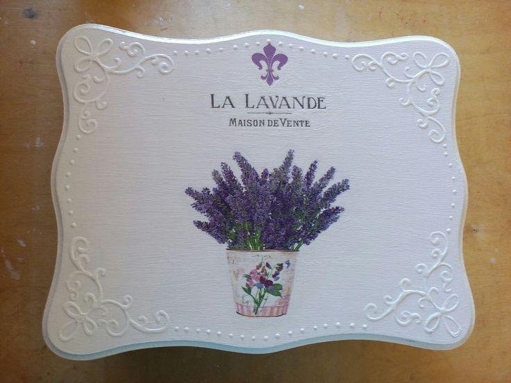 Lavender box decoupage