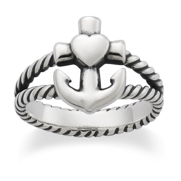Faith, Hope & Love Ring from James Avery Jewelry size 10 for a middle finger ring!