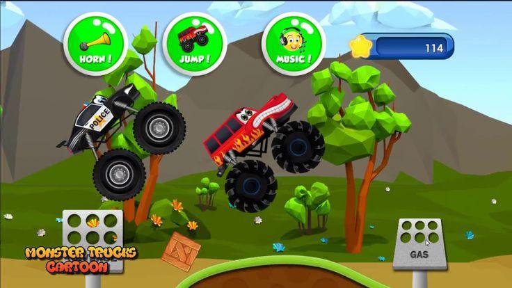 Spiderman Truck vs Police Truck vs Truck Monster Final Video for Kids Ca...