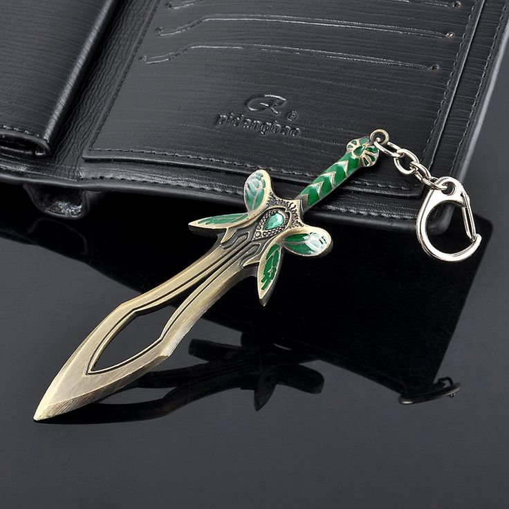 Cosplay Dota 2 Keyring The Butterfly Sword Weapon Key Chain Holder llaveros Keychain Pendant Key Rings For Men Women Jewelry
