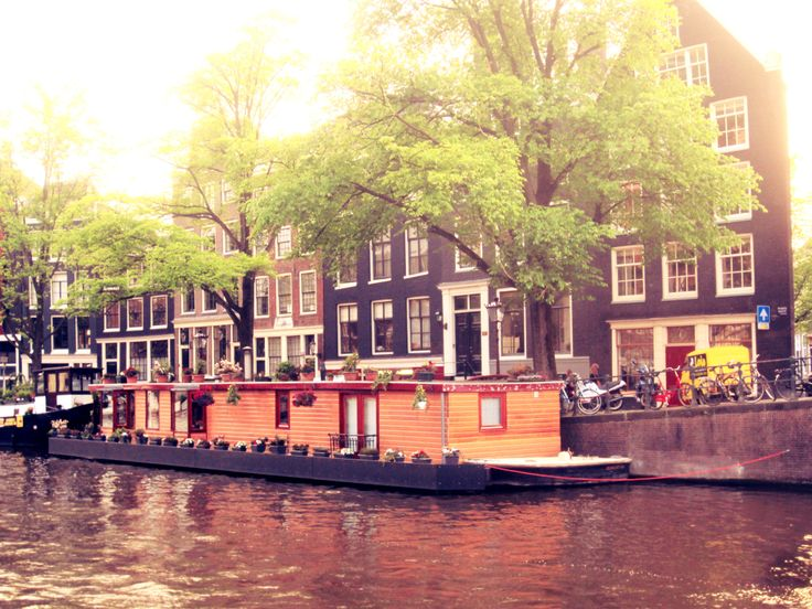 Amsterdam, canal, houseboat