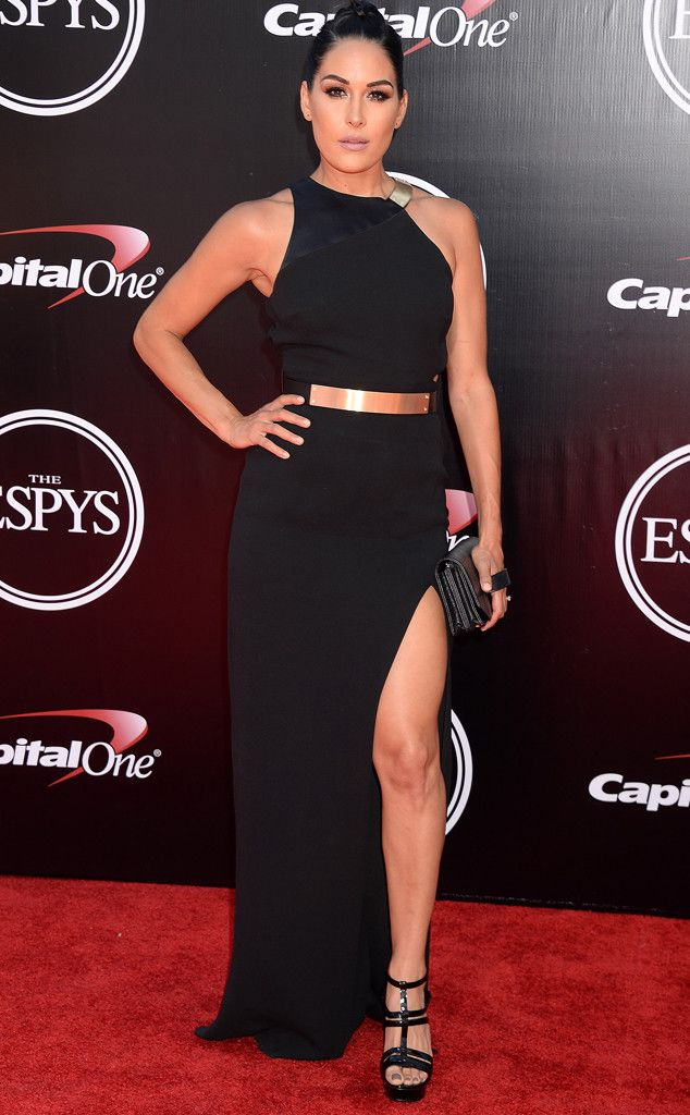 Brie Bella from 2016 ESPYs Red Carpet Arrivals  The WWE andTotal Divasstar flashesone of her impressive legs.