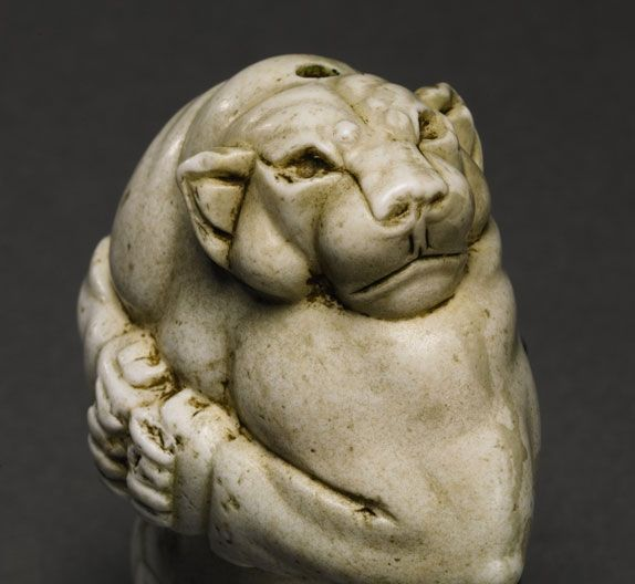 The Guennol Lioness is a 5,000-year-old Mesopotamian statue found near Baghdad, Iraq. Created at about the same time as the first known use of the wheel, the development of cuneiform writing and the emergence of the first cities