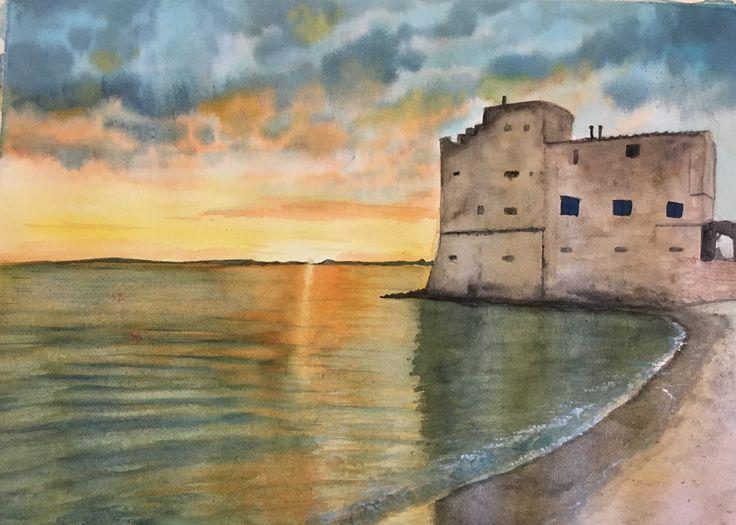 Watercolor painting of piombino