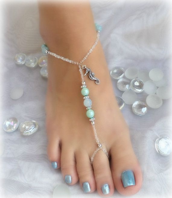 Toe Anklet / Foot Jewelry by AndoricalBeads on Etsy, $14.00