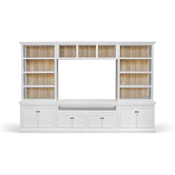 Entertainment Bookcase Console Cabinet Wall Unit Handmade Bookcase Tv Stand Console Cabinet Wall Unit