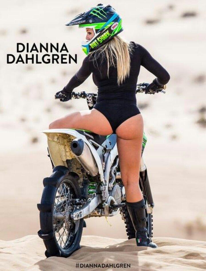 Sexy girl on dirtbike