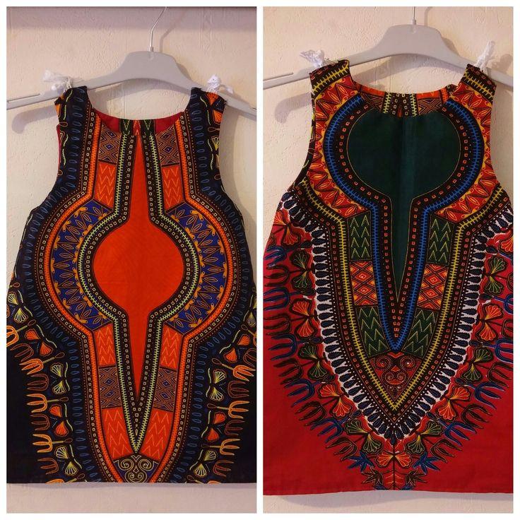 Robe Réversible Dashiki 2 ans : Mode filles par tidi-wax