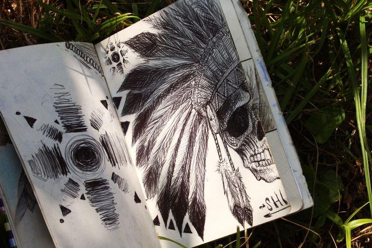△△△  Native △△△  #Sun #dreamsun #grafica #native #sun #flowers #sketch #sketchbook #skull #work #draw #drawing #pen #ink #accademyofart #art #graphic #feathers #onerepublicnative #dreamcatchers #dream #skull #dream #bones #SHI #Shidrawing