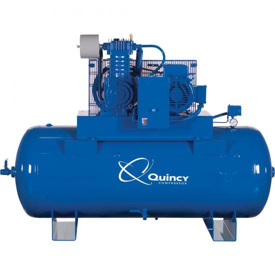 — Quincy QT-10 Splash Lubricated Reciprocating Air Compressor ...