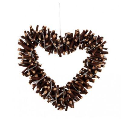 Produit : CORAZON - Coeur Décoratif Lumineux 30 Leds En Saule Brun Thème : Deco 100% naturelle Ajouté à la liste de Dorine via 35ansFly.fr