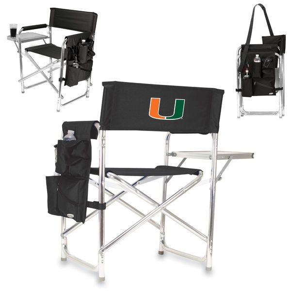 Miami Hurricanes Sports Chair - Black - $99.99