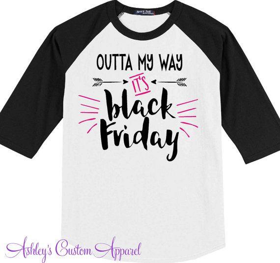 Black Friday Shirts, Holiday Shirts, Shopping Shirts, Custom Baseball Tee, Black Friday Sale, Women's Black Friday, I Love Shopping, Sales  by AshleysCustomApparel on Etsy