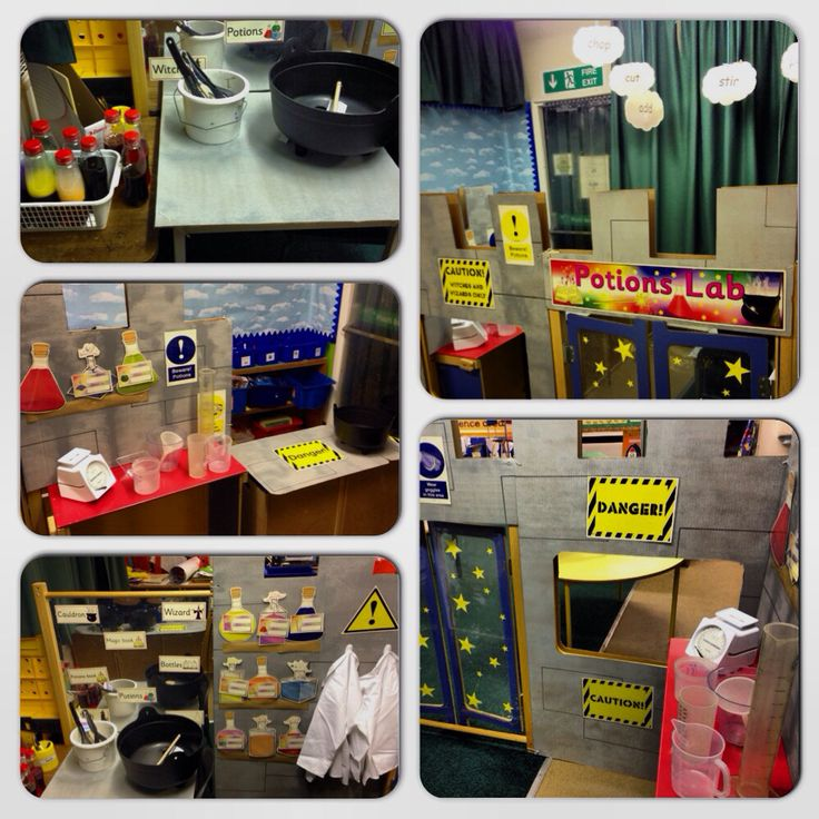 Potions lab / witches and wizards classroom role play!