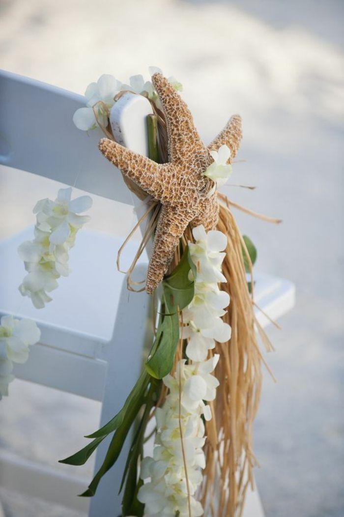 une decoration chaise mariage de style marin, comment choisir la housse de chaise mariage pas cher