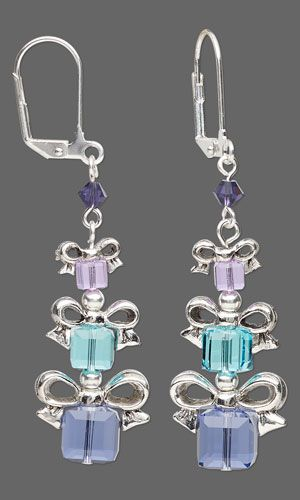 Earrings with SWAROVSKI ELEMENTS and Antiqued Silver-Plated Pewter Beads - Fire Mountain Gems and Beads